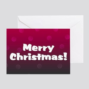 Merry Christmas Whimsy Plum Greeting Card