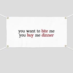 """""""Buy Me Dinner"""" Banner"""