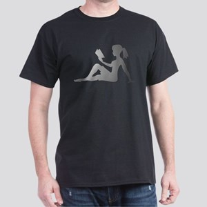 Reading Mudflap Girl Dark T-Shirt
