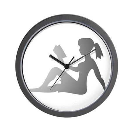 Reading Mudflap Girl Wall Clock