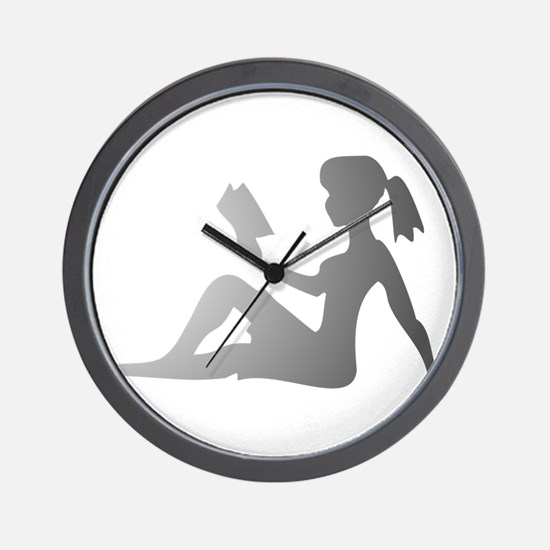 Reading Mudflap Girl Wall Clock