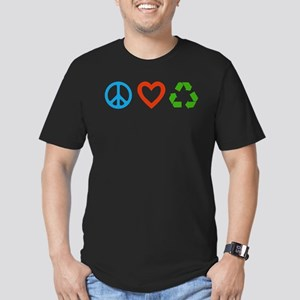 Peace Love Recycle Fitted T-Shirt