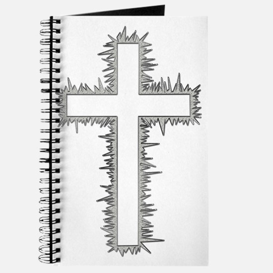 Electric silver cross Journal