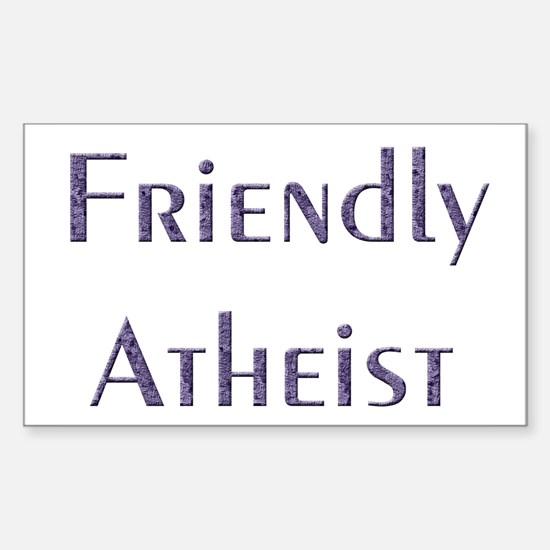 Friendly Atheist Sticker (Rectangle)