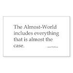 almost-Wittgenstein Rectangle Sticker 10 pk)