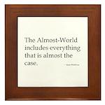 almost-Wittgenstein Framed Tile