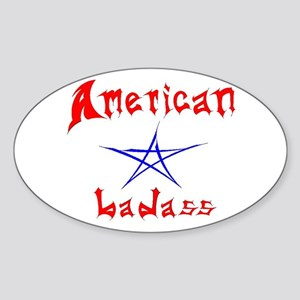 American Badass Oval Sticker