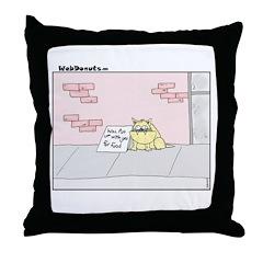 Cat Food Throw Pillow