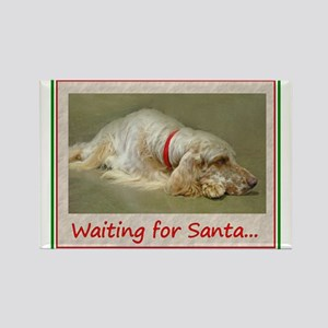 English Setter Christmas Rectangle Magnet