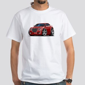 Chrysler 300 Maroon Car White T-Shirt