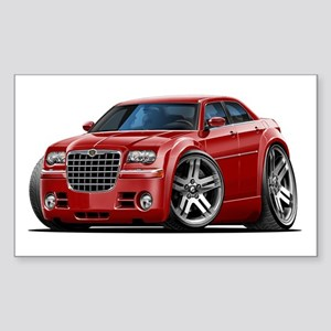 Chrysler 300 Maroon Car Rectangle Sticker