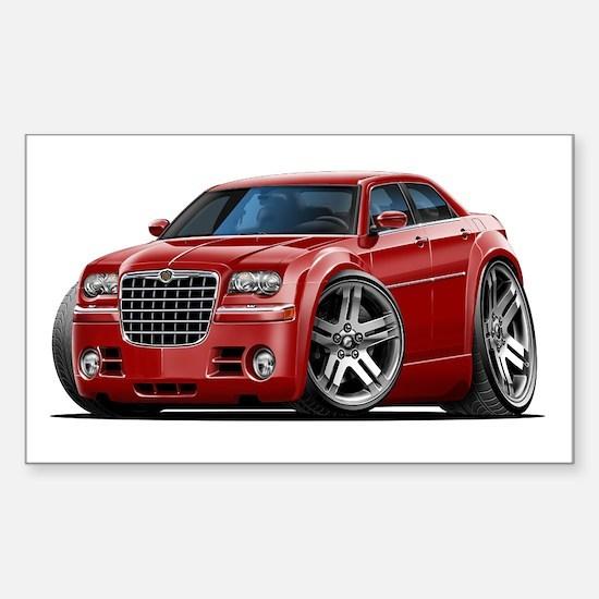 Chrysler 300 Maroon Car Rectangle Decal