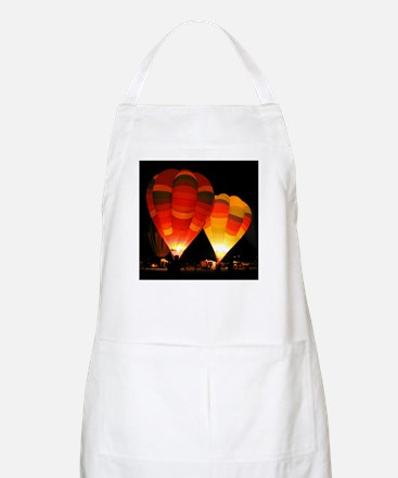 Two Glowing Rainbow Balloons BBQ Apron