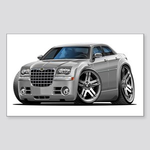 Chrysler 300 Silver Car Rectangle Sticker
