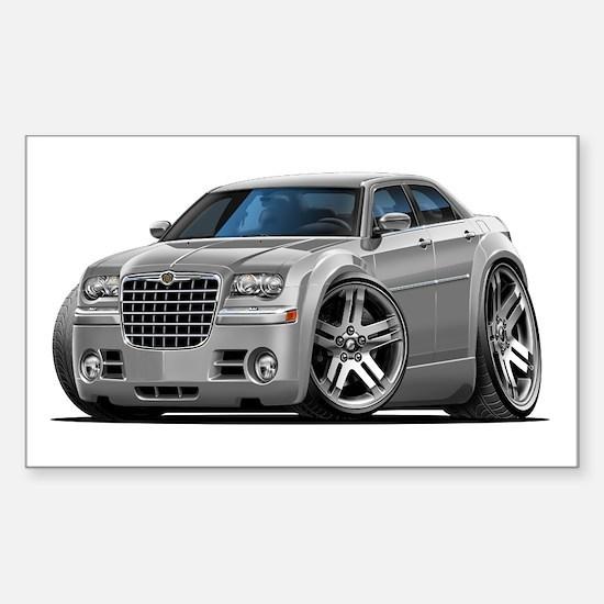 Chrysler 300 Silver Car Rectangle Decal