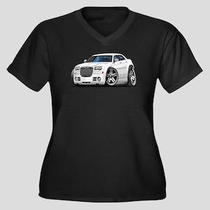 Chrysler 300 White Car Women's Plus Size V-Neck Da
