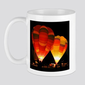 Two Glowing Rainbow Balloons Mug