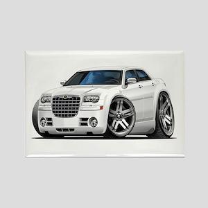 Chrysler 300 White Car Rectangle Magnet