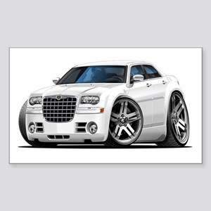 Chrysler 300 White Car Rectangle Sticker
