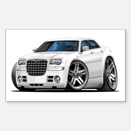 Chrysler 300 White Car Rectangle Decal