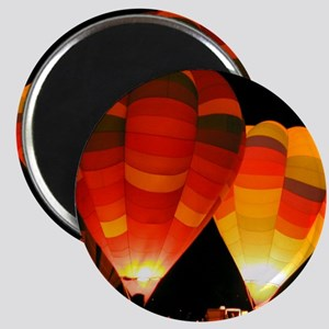 Two Glowing Rainbow Balloons Magnet