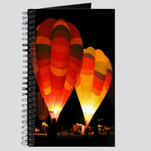 Two Glowing Rainbow Balloons Journal