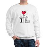 I Love Corgi Black Line Sweatshirt