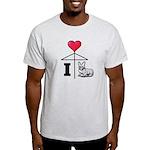I Love Corgi Black Line Light T-Shirt