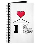 I Love Corgi Black Line Journal