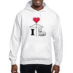 I Love Corgi Black Line Hooded Sweatshirt