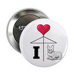 """I Love Corgi Black Line 2.25"""" Button (10 pack"""