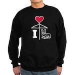 I Love Corgi White Line Sweatshirt (dark)
