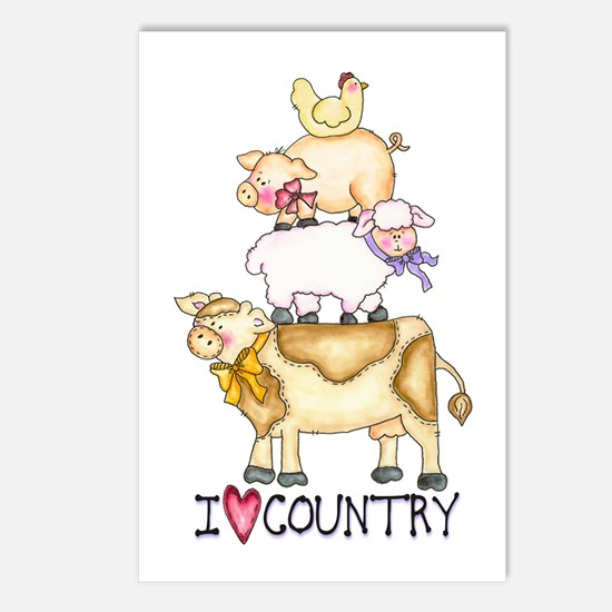I Love Country Postcards (Package of 8)