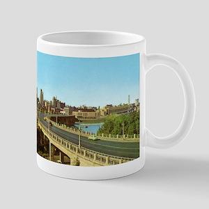 1950's 3rd Avenue Bridge, River and Minneapolis Sk
