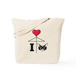 I Love Chihuahua Black Tote Bag