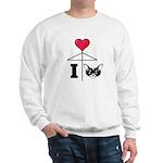 I Love Chihuahua Black Sweatshirt