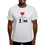 I Love Chihuahua Black Light T-Shirt
