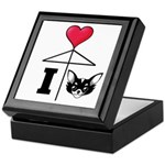I Love Chihuahua Black Keepsake Box