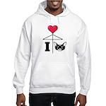 I Love Chihuahua Black Hooded Sweatshirt