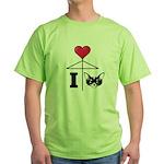 I Love Chihuahua Black Green T-Shirt