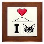 I Love Chihuahua Black Framed Tile