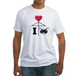 I Love Chihuahua Black Fitted T-Shirt