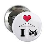 "I Love Chihuahua Black 2.25"" Button (100 pack"