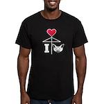 I Love Chihuahua White Men's Fitted T-Shirt (dark)