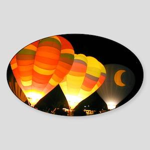 Three Glowing Balloons Oval Sticker