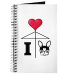 I Love French Bulldog Black Journal