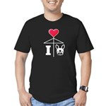 I Love French Bulldog White Men's Fitted T-Shirt (