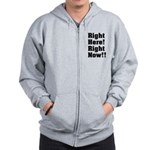 Right Here! Right Now!! Black Zip Hoodie