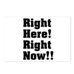 Right Here! Right Now!! Black Postcards (Package o