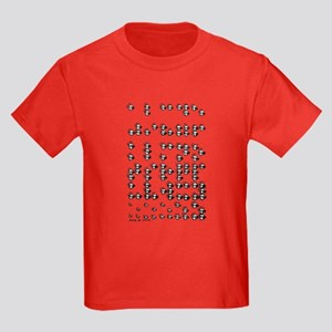 Braille A to Z Kids Dark T-Shirt